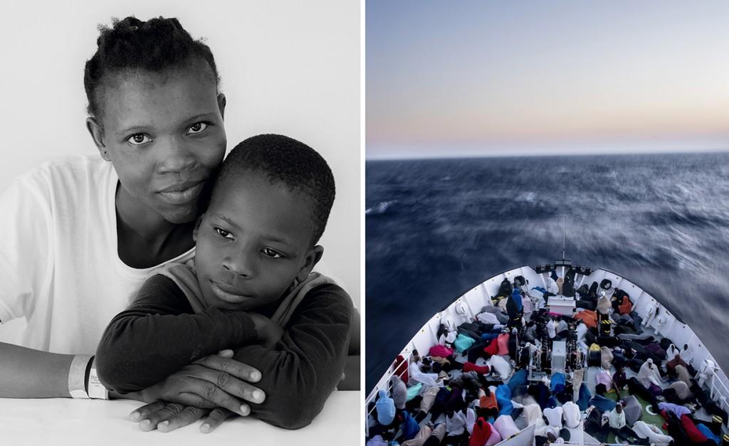 01_Salima, 23 ans et son fils Mohammed, 7 ans. Originaires de Sierra Leone