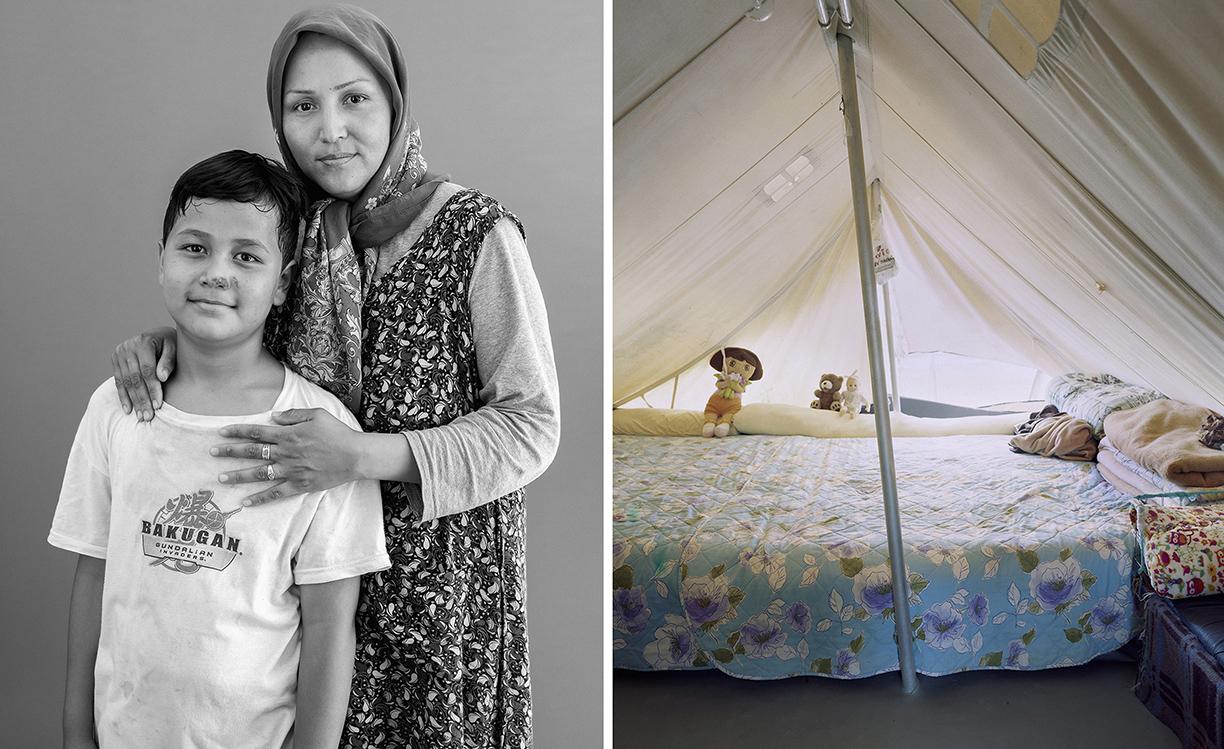 06_Salima, 33 ans et Reza, 10 ans. Afghans.